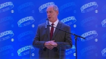 Ciro Gomes (PDT) concede entrevista coletiva após debate da Rede Globo