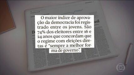 Maioria dos brasileiros prefere o regime democrático como melhor forma de governo