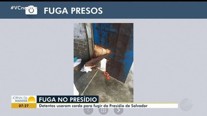 Presos fogem do presídio de Salvador