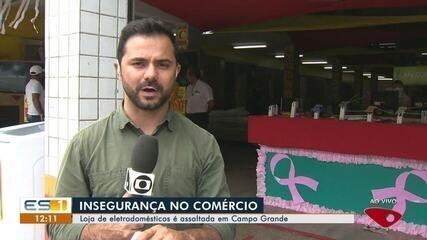 Loja de eletrodomésticos é assaltada em Campo Grande