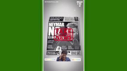 Neymar posta vídeo que diz que possível saída do PSG é fake news