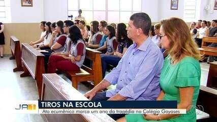 Culto homenageia alunos mortos por colega no Colégio Goyases, em Goiânia