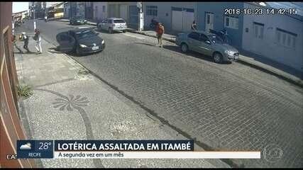 Lotérica é assaltada pela segunda vez em duas semanas em Itambé
