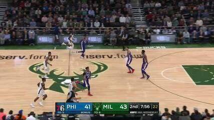 Melhores momentos: Philadelphia 76ers 108 x 123 Milwaukee Bucks de NBA