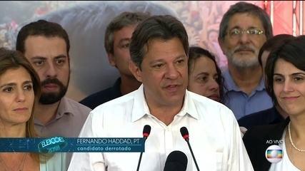 Fernando Haddad (PT) faz discurso após derrota no 2° turno das eleições presidenciais