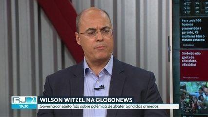 Wilson Witzel fala à Globonews