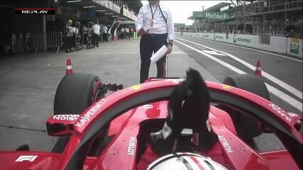 Vettel se pesa em balança da FIA em lance que terminou em polêmica