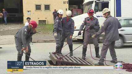 Corpo de Bombeiros retoma buscas por adolescente desaparecida em enxurrada em BH