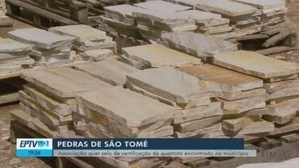 Comerciantes de pedras de São Tomé das Letras querem selo de reconhecimento