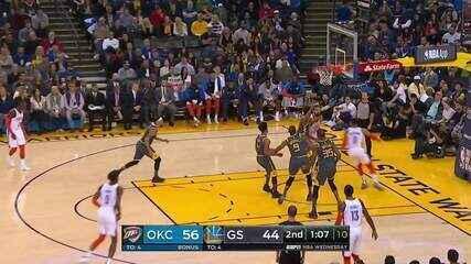 Melhores momentos: Warriors 95 x 123 Thunder pela NBA