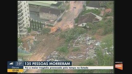 Tragédia climática que matou 135 pessoas em SC completa 10 anos