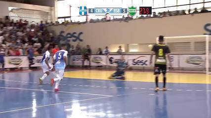 Os gols de Cruzeiro 4 x 6 Brasília pela final da Copa Brasília de Futsal 2018