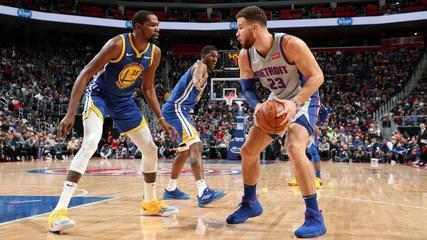 Melhores Momentos: Detroit Pistons 111 x 102 Golden State Warriors, pela NBA