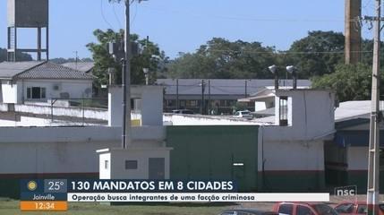 Gaeco deflagra operação contra facção criminosa em 8 cidades catarinenses