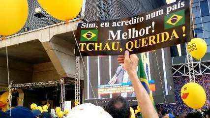 Manifestantes pró impeachment na Av. Paulista