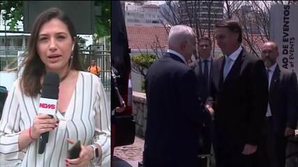 Bolsonaro e Netanyahu almoçaram juntos no Rio