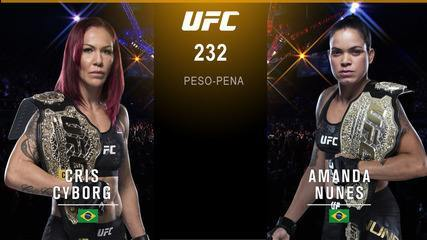 UFC 232 - Cris Cyborg x Amanda Nunes