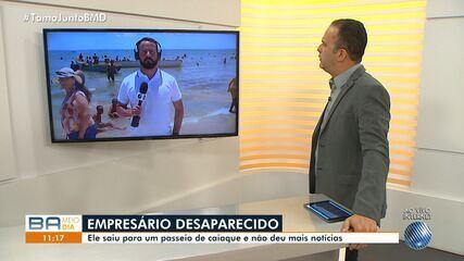 Empresário desaparece após sair para passeio de caiaque em praia de Cabuçu