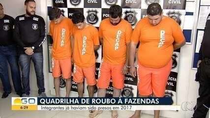 Preso parte de grupo especializado suspeito de roubar gado em fazendas de Goiás