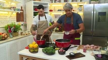 Alexandre Borges prepara Frango com Laranja