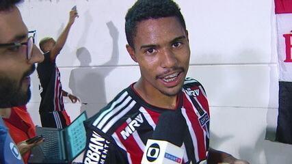 Dono dos três gols do São Paulo em cima do Rio Claro, Gabriel Novaes dá sua primeira entrevista