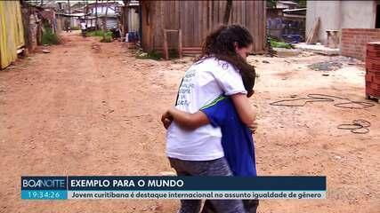 Jovem curitibana é destaque internacional no assunto igualdade de gênero