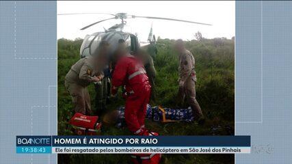 Homem é atingido por raio quando voltava de pescaria em São José dos Pinhais