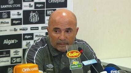 Veja um trecho da entrevista de Jorge Sampaoli após empate do Santos com o Corinthians
