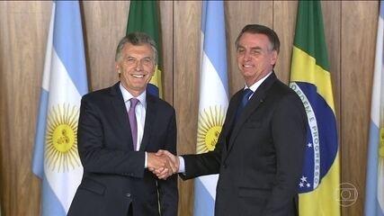 Jair Bolsonaro recebe visita do presidente da Argentina, Mauricio Macri