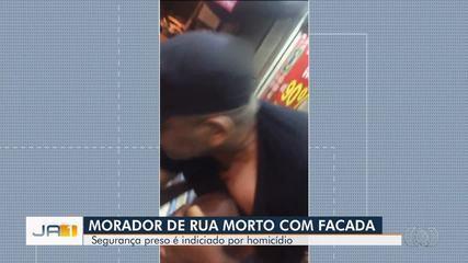 Segurança filmado matando morador de rua chora ao ser preso e diz que morte foi acidental