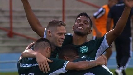 Os gols da vitória do Goiás sobre o Goiânia por 3 a 0