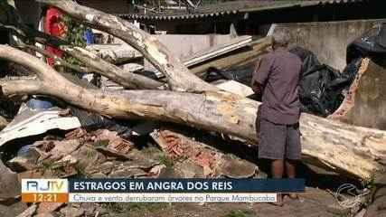 Defesa Civil realiza vistoria para mostrar transtornos após temporal em Angra