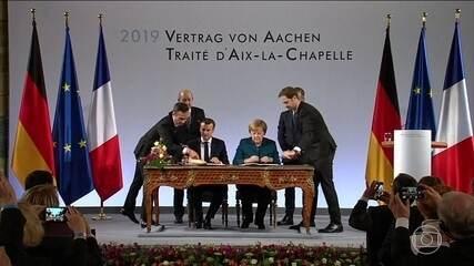 França e Alemanha assinam novo acordo histórico