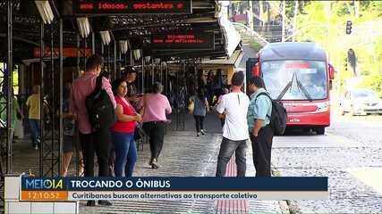 Número de passageiros do transporte coletivo cai em Curitiba