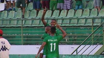 Gol do Guarani! Inácio cobra falta na área e Diego Cardoso aparece nas costas de Fagner para empatar, 37 do 1º