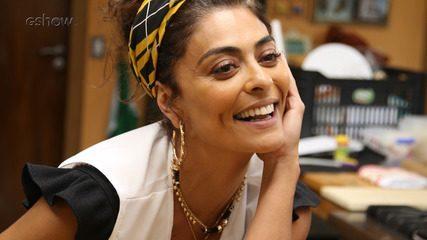 Juliana Paes tem aulas de confeitaria para viver Maria da Paz em 'A Dona do Pedaço'
