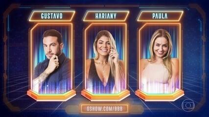Segundo Paredão: Hariany, Gustavo e Paula estão no Paredão do BBB19