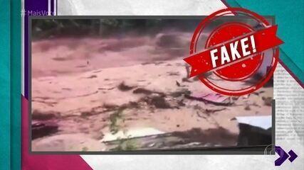 Fake News: Vídeo que mostra avalanche de lama não é de Brumadinho