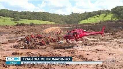 Bombeiros do ES participaram de resgate de vítimas em Brumadinho