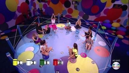 Prova do Líder Dança das Cadeiras: Paula, Diego, Rodrigo e Tereza estão eliminados