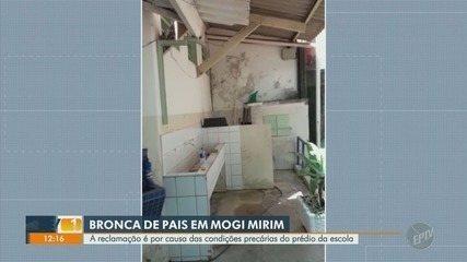 Pais reclamam de situação de escola em Mogi Mirim, dias antes de iniciarem as aulas