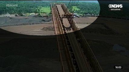 Imagens mostram árvores e postes caindo com o estouro da barragem em Brumadinho