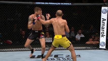 José Aldo venceu Renato Moicano por nocaute técnico no UFC Fortaleza