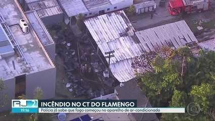 Polícia já sabe que fogo no CT do Flamengo começou no aparelho de ar-condicionado
