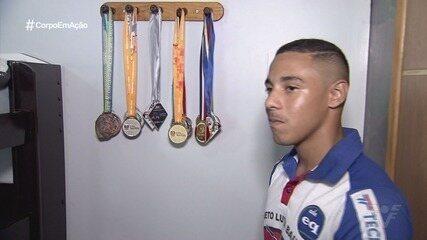 Atleta de São Vicente sonha em ser campeão da luta olímpica