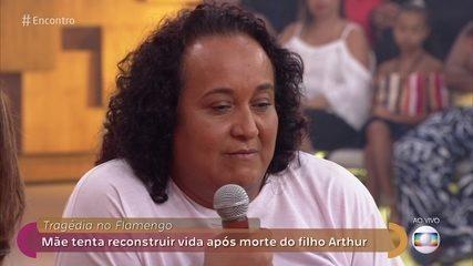 Marília perdeu filho de 14 anos no incêndio no CT do Flamengo