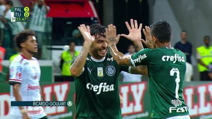 Gol do Palmeiras! Ricardo Goulart marca o segundo, após cruzamento de Maike, aos 22 do 1ºtempo