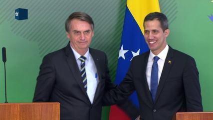 Bolsonaro e Guiadó se encontram e dizem que Brasil e Venezuela são nações amigas