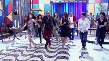 Confira momentos da Fátima mostrando samba no pé