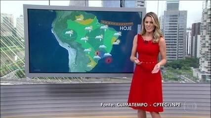 Previsão de chuva forte em São Paulo, Rio e Minas; chove menos no Sul